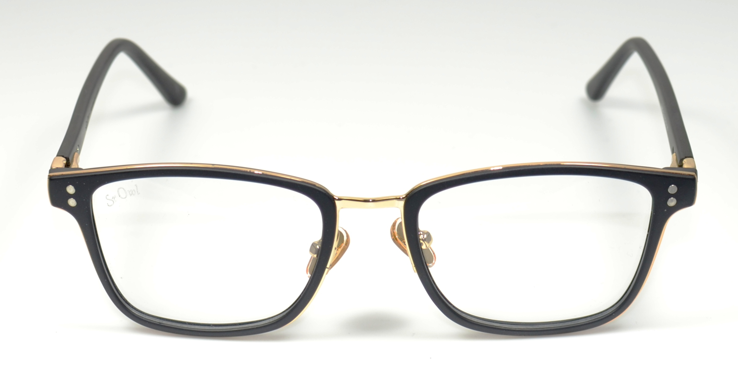SR OWL 2065 C2 51-19-140 BLACK ACETATE-GOLDMETAL SP DESIGN F