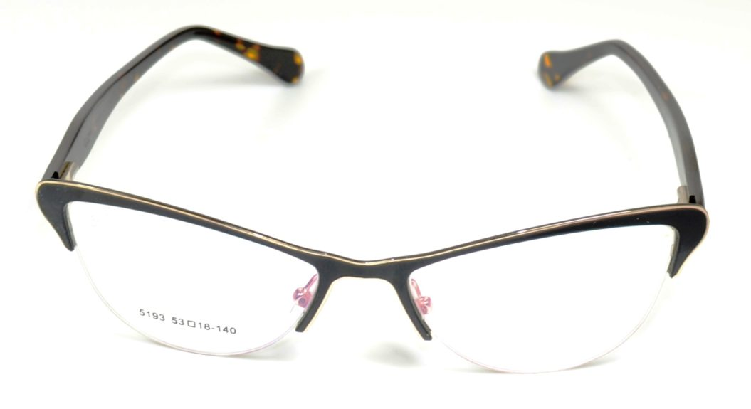 SR OWL 5193 C4 53-18-140 BL METAL-HAVANA ACETATED SP DESIGN F